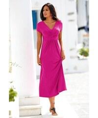 Blancheporte Dlouhé šaty s krátkými rukávy indická růžová cc773beb45