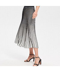 Reserved - Proužkovaná sukně - Černý cdfc0922b8