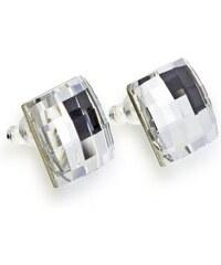 Biele náušnice Naneth s kryštálmi Chessboard Swarovski Crystal 8499e03d2fd