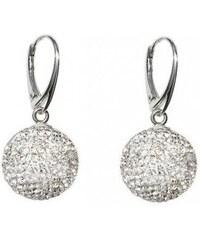 3d8273696 Náušnice guličky Disco Ball Naneth s bielymi kryštálmi Swarovski Crystal 12  mm