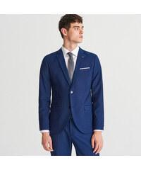 6e257050af Reserved - Oblekové sako slim fit - Tmavomodrá