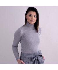 Willsoor Elegáns női garbónyakú pulóver szürke színben 10360 e728e79989