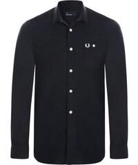 Černá košile z prémiové bavlny od Fred Perry 0b1fc09297