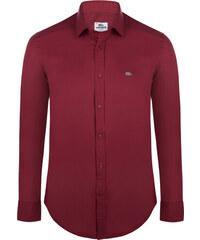 Bordó elegantní košile od Lacoste c53a4ee915