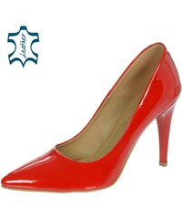 6426916094 OLIVIA SHOES Červené elegantné lakované lodičky A944