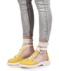 01329f45e00e Ideal Žlto-biele členkové topánky Venise