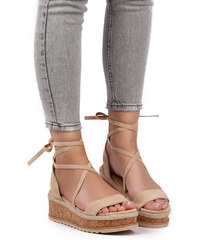 d5560f37a6c4 Ideal Béžové platformové sandály Halley