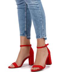 Ideal Červené sandále Estee 651ebae2ddb