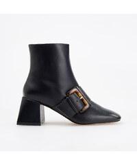 5bbcbb8656c1 Reserved - Topánky nad členok s ozdobnou prackou - Čierna