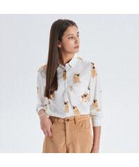 48aa95502364 Cropp - Vzorovaná košeľa - Biela