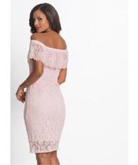 73c0c7f1a7b4 Růžové šaty s krajkou
