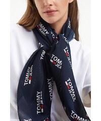 Tommy Hilfiger modrý šátek TJU Logo Allover Scarf Corporate b9640edcb0a