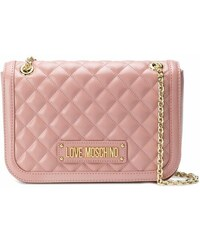 Love Moschino quilted shoulder bag - Pink e1fde018ac7