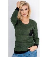 60970390e264 BASIC Dámsky zelený sveter BARRY (my0488) - Glami.sk
