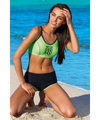 Lorin Sportovní dvoudílné zelené plavky Natasha df38512d74