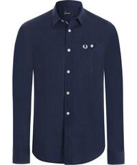 6a233d71473c Tmavo modrá košeľa z prémiovej bavlny od Fred Perry