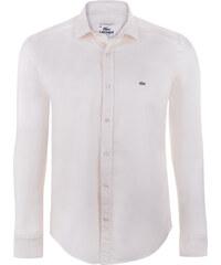 52438fe06553 Krémová elegantná košeľa od Lacoste