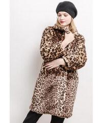 b162b2044ec Starmy Dámský kožešinový kabát - leopardí