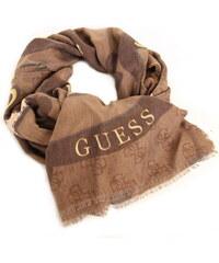 Guess dámský hnědý šátek se vzorem 73de119e7f