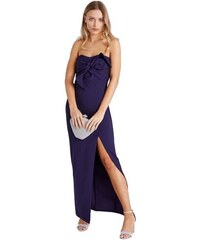 LITTLE MISTRESS Bandeau maxi šaty s mašlí e4bad099538