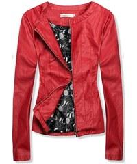 Červené dámské bundy a kabáty z obchodu Butikovo.cz  353a3d4af23