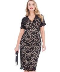18a5493f2f1 Dovoz Anglie Dámské černé krajkové šaty koktejlky velikost 44