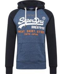 Superdry Mikina s kapucí  Store  tmavě modrá   bílá d8932b7cf88