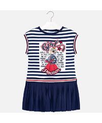 6b2565674bd Šaty s plisovanou sukýnkou GIRL tmavě modré MINI Mayoral