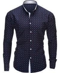 Ombre Clothing Pánská námořnická košile slim fit Juelz černá 1ea6e7e120