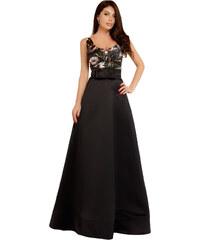 NoName Plesové šaty se širokou sukní černé S 5a43466f81