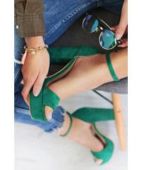 e7a78452ba Ideal Zelené sandále Ronie