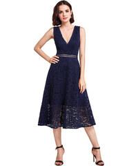 a1b841dc65fc Ever Pretty Koktejlové krajkové šaty modré