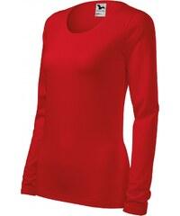 d25cc7da8468 ČistéOblečenie.sk Jednofarebné Dámske tričko priliehavé s dlhým rukávom