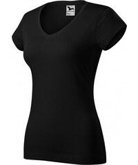 552a148f8e69 ČistéOblečenie.sk Jednofarebné Dámske tričko s V-výstrihom zúžené