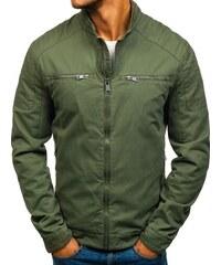 c04e5d56b330 Zelená pánská elegantní přechodová bunda Bolf 1816-A