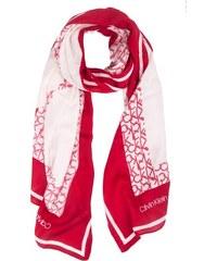 Calvin Klein červený šátek Geo Quilt Scarf Lipstick Red ae76bc08c1e