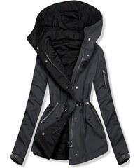 39f51c84a898 Trendovo Šedo-černá oboustranná jarní bunda