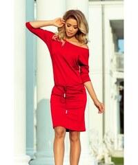 c803c392e9c Dámské sportovní šaty s tkanicí a kapsami červené NUMOCO 13-96-L