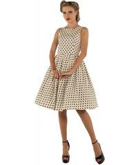 Béžové šaty s černými puntíky Dolly and Dotty Annie e607e6e59e