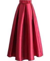 70743cd560c CHICWISH Dámská maxi sukně Divizna červená