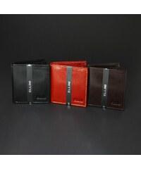 Ellini Pekná pánska peňaženka TM-51R-059 - čokoládovohnedá TM-51R-059 9a9b79b59b5