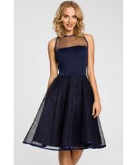 Tmavě modré šaty MOE 148 93a3eb3e37