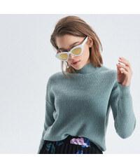 05da9db9f1b9 Cropp - Jemně pletený svetr s rolákem - Zelená