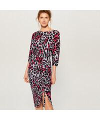 Mohito - Šaty s leopardím potiskem - Modrá dac6504fafb