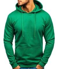 bfeddcd56a1b Zelená pánská mikina s kapucí Bolf 5361