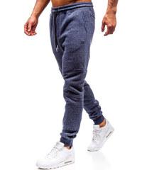 Tmavě modré pánské jogger tepláky Bolf Q3778 dcb33ce2209