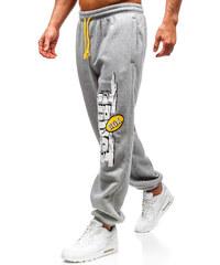 Šedé pánské jogger tepláky Bolf Q3240 be8bbd8381c