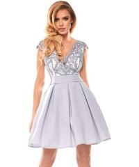 BICOTONE Dámské šaty Princezna šedé cc8425110d