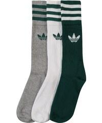42d3edc110f ADIDAS ORIGINALS Ponožky  SOLID CREW  šedá   smaragdová   bílá