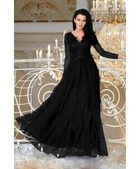 BICOTONE Dámské dlouhé šaty Fatima černé fe10250a254